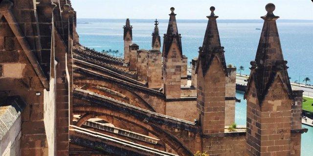 Terraza de la catedral de Mallorca