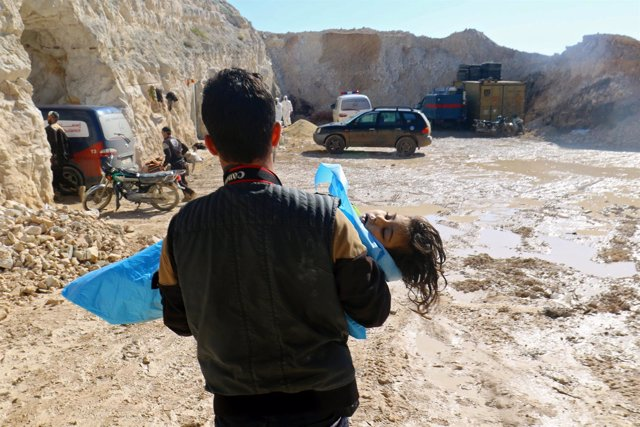 Imagen de archivo del ataque químico en Jan Sheijun, Idlib