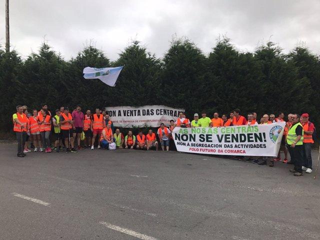 Protesta de los trabajadores de Ferroatlántica