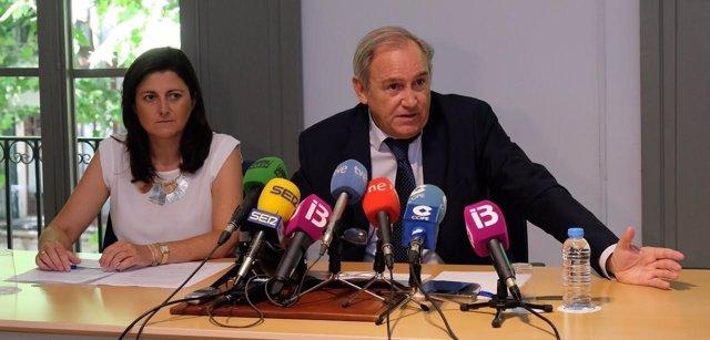 Rueda de prensa del decano del Colegio de Abogados de Baleares