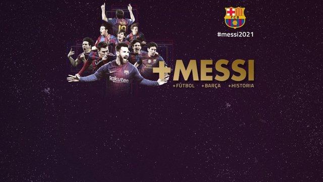 Anuncio del FC Barcelona de la renovación de Messi