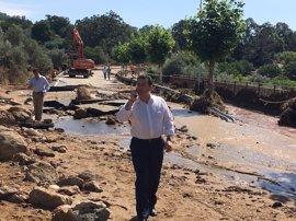 """El PP muestra su """"apoyo"""" a los vecinos de Valverde de la Vera tras la rotura de la balsa de abastecimiento de agua"""