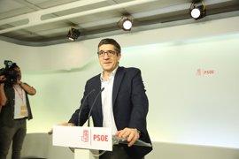 """Patxi López acusa a los independentistas de """"romper con la democracia"""" y tacha de """"despropósito"""" la ley del referéndum"""