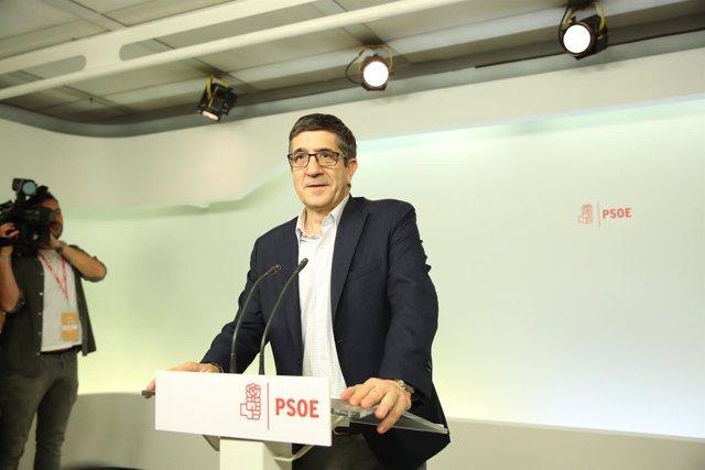 Intervención de Patxi López tras las primarias del PSOE