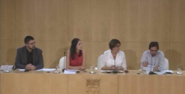 Rita Maestre en rueda de prensa de la Junta