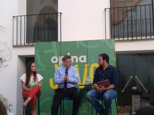 Puig participa en un coloquio del CJCV sobre los problemas de los jóvenes