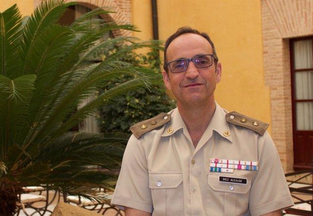 Teniente coronel del Ejército de Tierra Jesús Díez, en los cursos 2017 de la UPO