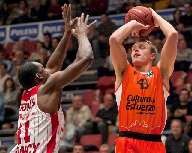 Valencia Basket vs. SLUC Nancy, Luke Sikma.