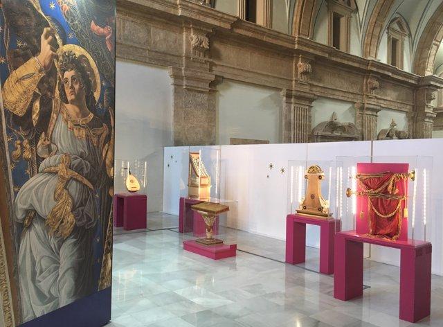 Exposición de instrumentos de los ángeles músicos en San Miguel de los Reyes