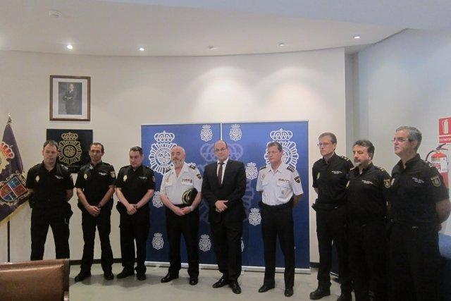 Palencia: Zurita con los mandos policiales de Palencia