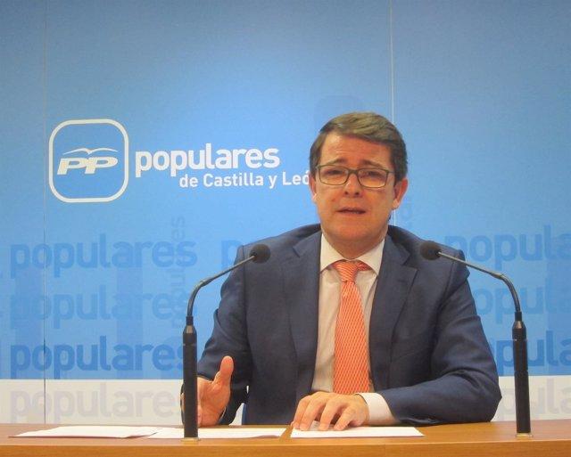 Valladolid. Secretario regional de PP, Alfonso Fernández Mañueco
