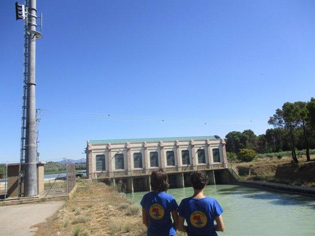Presa de Ardisa y salida del Canal de Monegros