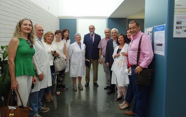 Domínguez junto con el equipo de Buñuel