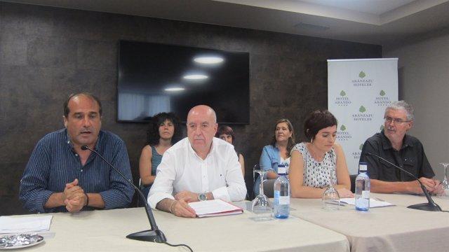 Agus Hernan, Raúl Arza, Garbiñe Aranburu y Adolfo Muñoz