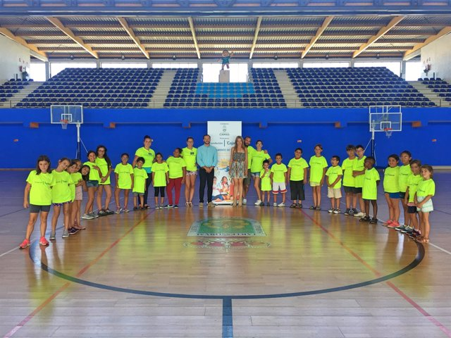 Participantes en el campamento urbano 'Campus Sunset Cajasol'