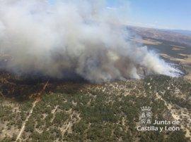 Los vecinos evacuados por el incendio de Navalilla (Segovia) vuelven a casa
