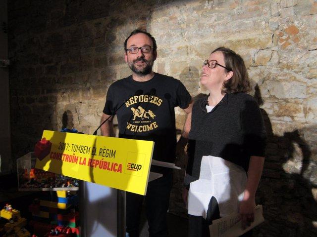 Benet Salellas y Eulàlia Reguant, CUP