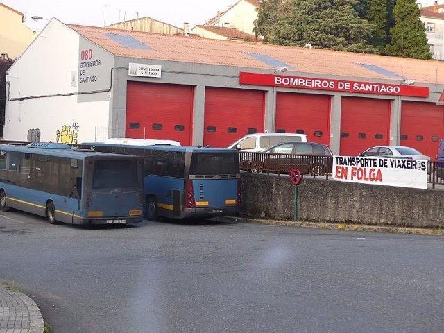 Transporte público de viajeros en huelga