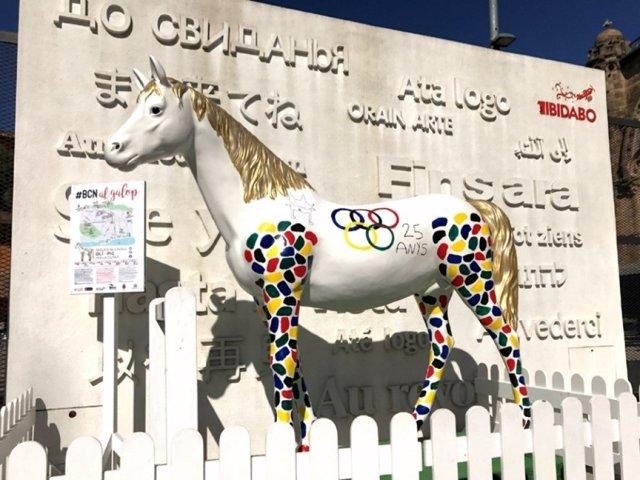 El caballo 'Olímpic' en la entrada del Tibidabo