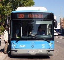 Autobús especial 180 de la EMT a la Caja Mágica