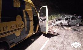 Un fallecido y un herido grave en un accidente de tráfico en la AS-117 en Campo de Caso