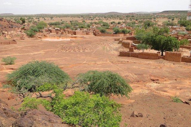 Poblado en el Sahel