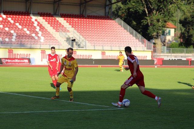 La Selección AFE en su partido ante el Kapfenber