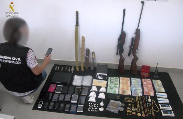 Detenido un clan familiar dedicado a la venta de cocaína en Lora del Río