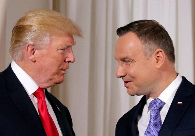 Donald Trump y Andrzej Duda
