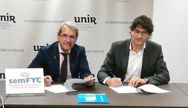 Unir y semFYC firman un acuerdo para impulsar la formación universitaria