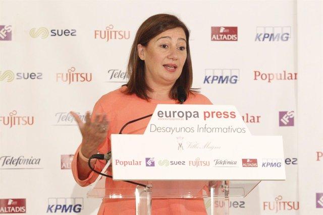 Francina Armengol Protagoniza Un Desayuno Informativo De Europa Press
