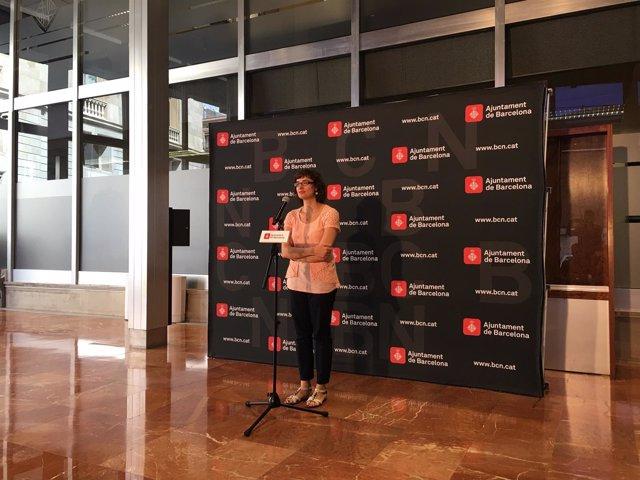 La presidenta de TMB y concejal de Movilidad, Mercedes Vidal