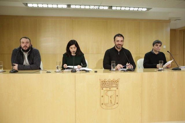 Guillermo Zapata, Rommy Arce, Nacho Murgui y Jorge García Castaño