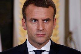 """Macron defiende que la lucha contra el cambio climático debe ir """"más allá"""" del Acuerdo de París"""