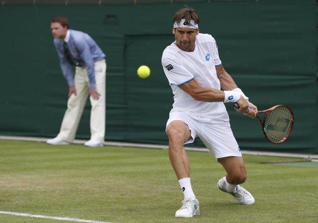 David Ferrer en Wimbledon