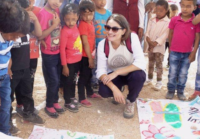 Oltra durante su visita a Cisjordania