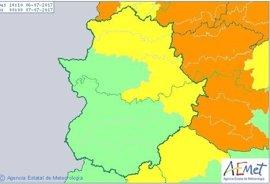 El 112 Extremadura amplia la alerta amarilla por fuertes lluvias, vientos y tormentas a diversas zonas de la región