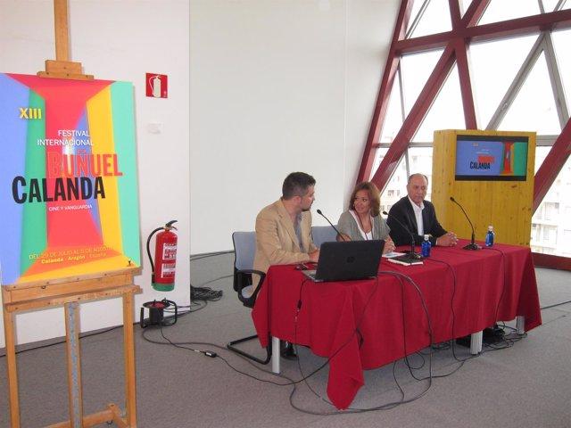 Guimerá, Pérez e Ibáñez han presentado hoy el XIII Festival Buñuel-Calanda