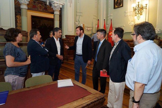 Reunión de la CUVA en el Ayuntamiento de Valladolid