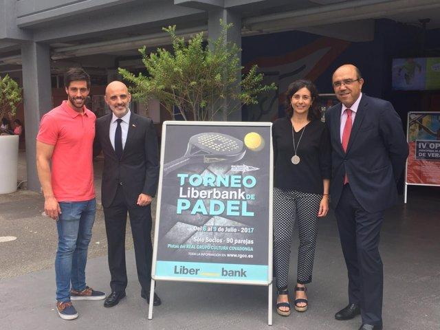 Presentación del Torneo de Pádel Liberbank, en el Grupo Covadonga.