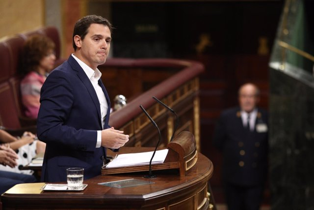 Albert Rivera, en la tribuna