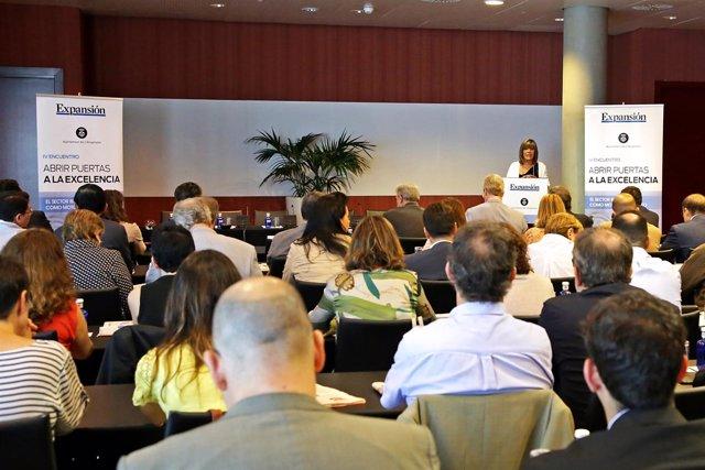 Conferencia de la alcaldesa de l'Hospitalet, Núria Marín