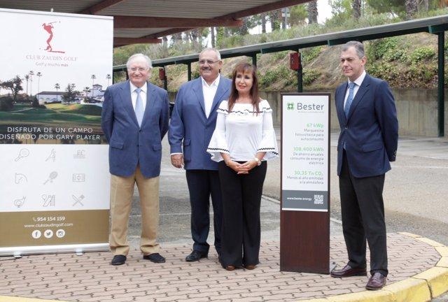 Inauguración marquesina fotovoltaica Club Zaudín Golf