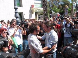 Cara a cara entre Pablo Iglesias y 'Kichi' en la Universidad de Verano de Podemos