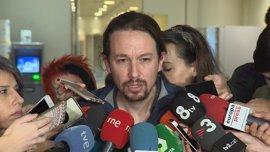 """Pablo Iglesias dice sobre Cataluña que el Gobierno """"se equivoca"""" porque """"criminaliza una movilización política"""""""
