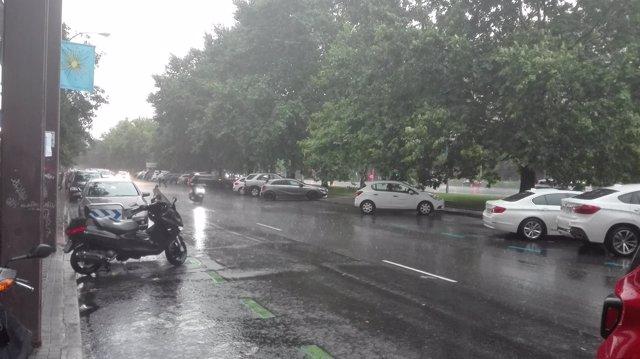 Tromba de agua en Madrid