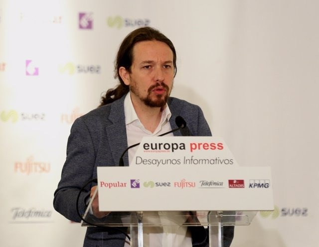 Desayuno informativo de Europa Press con Pablo Iglesias