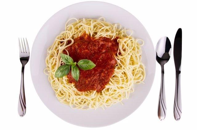 Comida, plato, alimento, pasta