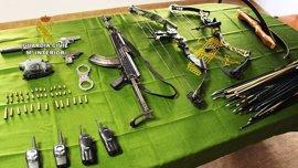 Detenido en Vinaròs con un arsenal de armas de guerra un hombre evadido de una prisión de Barcelona