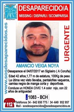 Cartel de SOS Desaparecidos